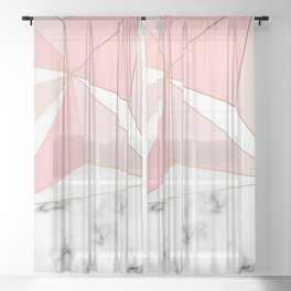 Marble & Geometry 042 Sheer Curtain