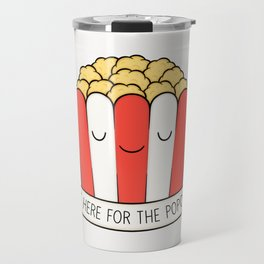 Just Here For The Popcorn Travel Mug