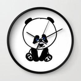 Chalkies panda color white Wall Clock