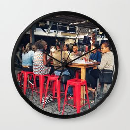 Lunch together Wall Clock