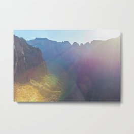 Arousal of Shadows (Zion National Park, Utah) Metal Print
