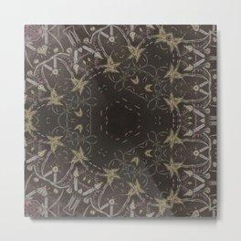 elegant etnic geometric school candle autumn halloween Metal Print