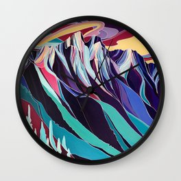 Sunrise on the Ribs Wall Clock