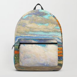 Granville Redmond - A Field of California Poppies - Digital Remastered Edition Backpack
