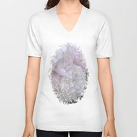 peonies V-neck T-shirts featuring Peonies by DuniStudioDesign