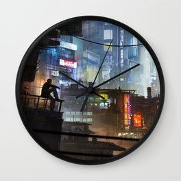 On the roofs Wall Clock