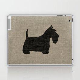 Scottish Terrier Scottie Silhouette Laptop & iPad Skin