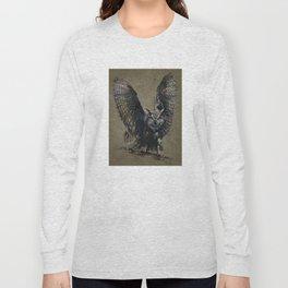 Owl background Long Sleeve T-shirt