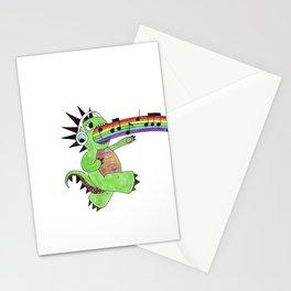 Rainbow Singing Dinosaur  Stationery Cards