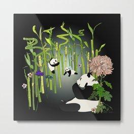 Panda's Playground - Dark Version Metal Print