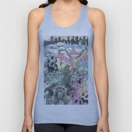 """Winter""  Illustrated print. Unisex Tank Top"