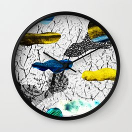 Space collage Wall Clock
