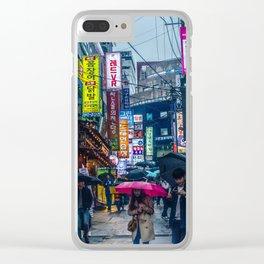 Raining in Gangnam Clear iPhone Case