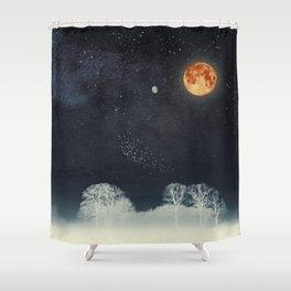 Venus and Moon Night Shower Curtain