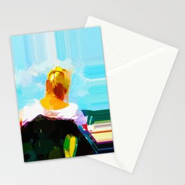 Marie looks out over the Wadden Sea Stationery Cards