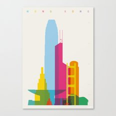 Shapes of Hong Kong. Accurate to scale Canvas Print