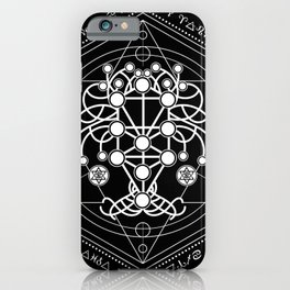 Kabbalah The Tree of Life Sacred Geometry Ornament iPhone Case
