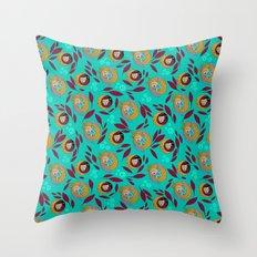 Wild Spirit Woman Throw Pillow