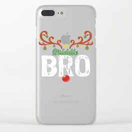 reindeer bromiddle Clear iPhone Case