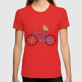 Bunny Riding Bike T-shirt