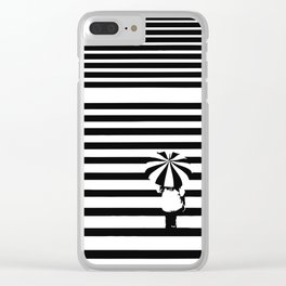 Rainy lines Clear iPhone Case