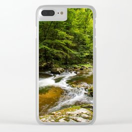 River surrounded by trees and plants Clear iPhone Case