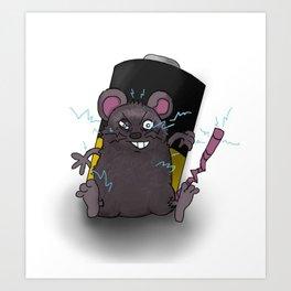 Zap Rat Art Print