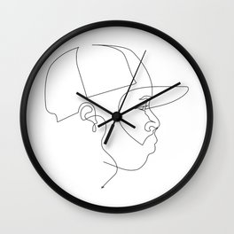 One Line For Dilla Wall Clock