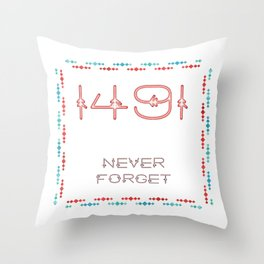 1491 - Never Forget Throw Pillow