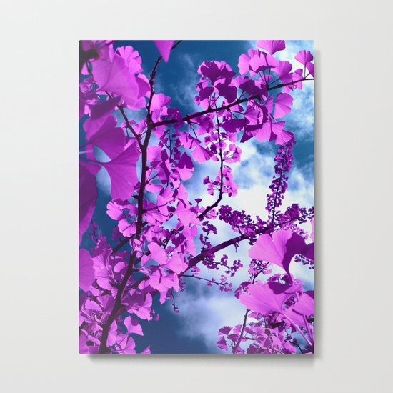 purple ginkgo tree VII Metal Print