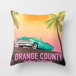 orange county California USA Throw Pillow