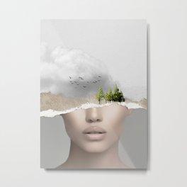 minimal collage /silence2 Metal Print