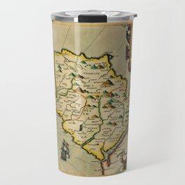 Map Of Anglesey 1608 Travel Mug