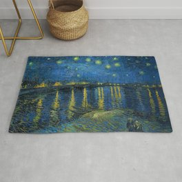 Starry Night Over The Rhone Rug