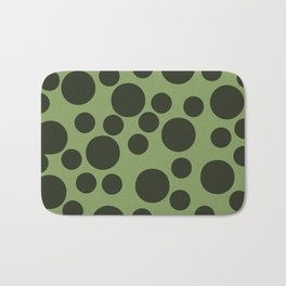 Army Green Dots Bath Mat