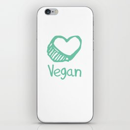 Vegan from the heart iPhone Skin