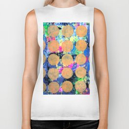 Bubble Wrap Abstract Pop Painting by Robert Erod HUGE COLORFUL ART Biker Tank