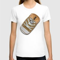 vans T-shirts featuring Cute brown Vans all star baby shoes apple iPhone 4 4s 5 5s 5c, ipod, ipad, pillow case and tshirt by Three Second