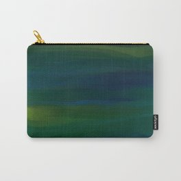 Navy, Peacock Green Abstract Carry-All Pouch