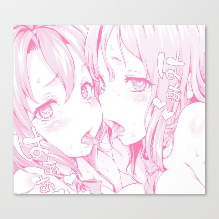 Sexy Anime Aesthetic Naughty Girls Canvas Print By Andrey22007