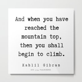 27   | Kahlil Gibran Quotes | 190701 Metal Print