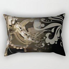 Sparkly Chandelier & Damask Rectangular Pillow