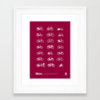 bikes Framed Art Prints featuring Bikes by Nada Solutions