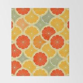 Summer Citrus Slices Throw Blanket