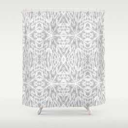 Pattern Grey / Gray Shower Curtain