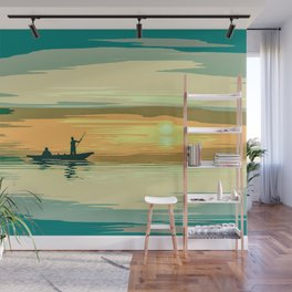 Morning Fishing Wall Mural