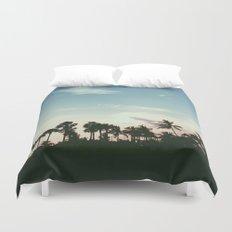 Sunset on the Beach Duvet Cover