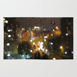 Rainy Night City Rug