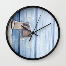 blue lock Wall Clock