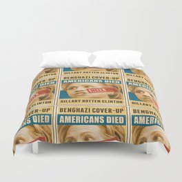 Hell No Hillary Duvet Cover